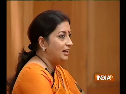 Smriti Irani on Rahul Gandhi vs Modi in Aap Ki Adalat