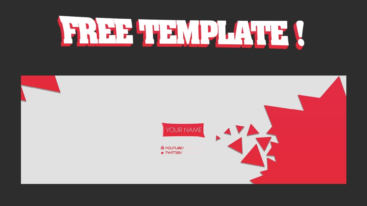 free simple 2d twitter header template youtube