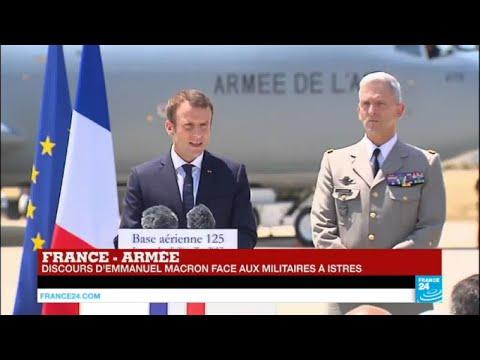 REPLAY - Discours d'Emmanuel Macron face aux militaires