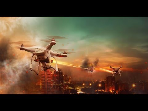 Падение ангела: атака дронов. / Falling angel: attack of the drones.