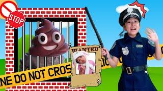 아이린경찰! 엘라를 잡아줘요!! 경찰놀이 Irene and Ella Pretend Play Police funny videos for kids