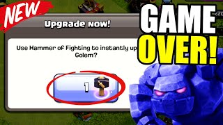 THE END OF GOLEMS IN CLASH OF CLANS!!