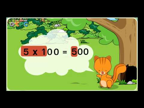การคูณจำนวนที่มีหนึ่งหลักกับจำนวนเต็มร้อย จำนวนเต็มพัน - คณิตศาสตร์ ป.3