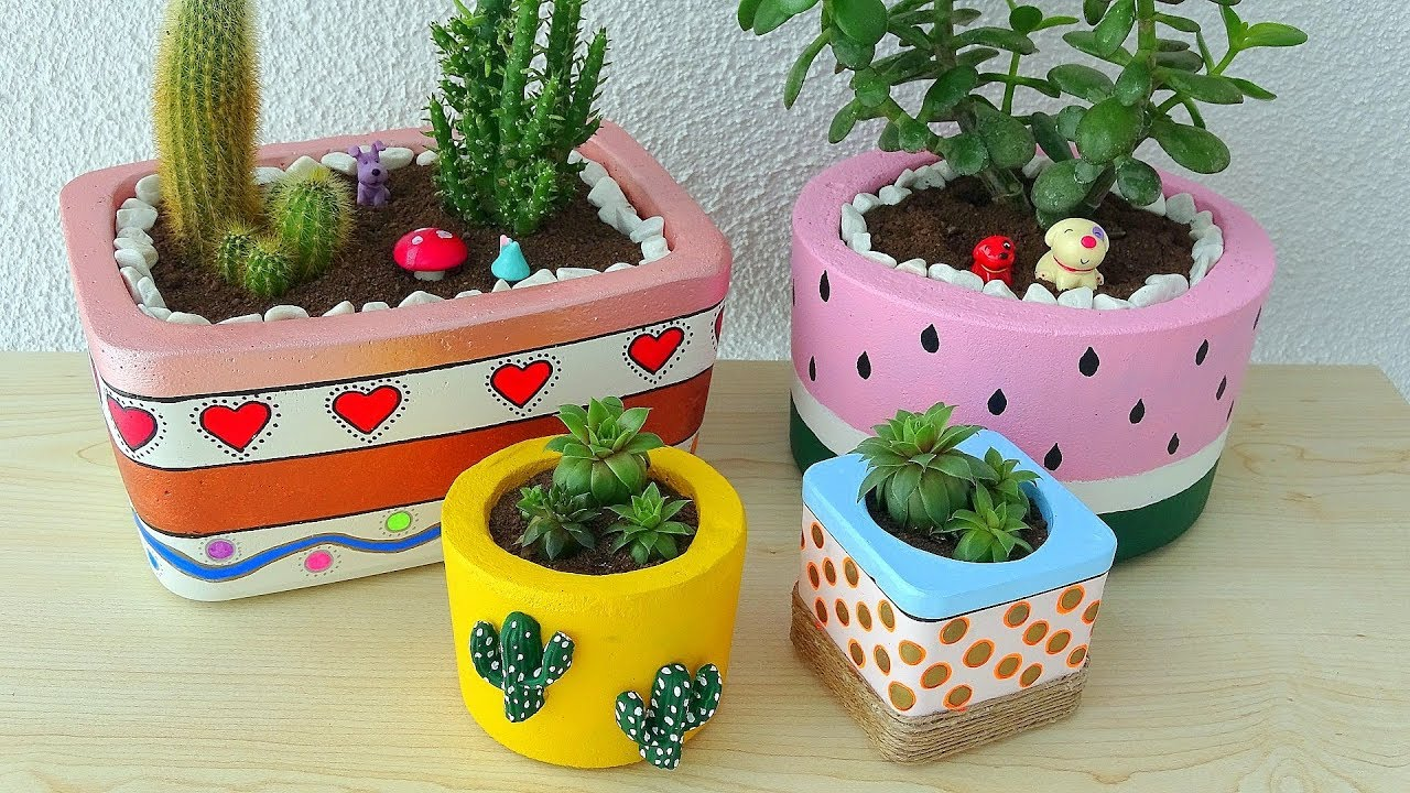 How To Make Concrete Flower Pots At Home