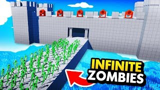 INFINITE ZOMBIE APOCALYPSE vs SKY HIGH RAGDOLL CASTLE (Fun With Ragdolls: The Game Funny Gameplay)