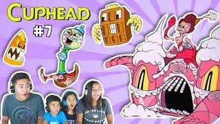 Crazy Candy Castle & Sweet Minions | Sugarland Shimmy | Cuphead #7 | Baroness Von Bon Bon Boss Level