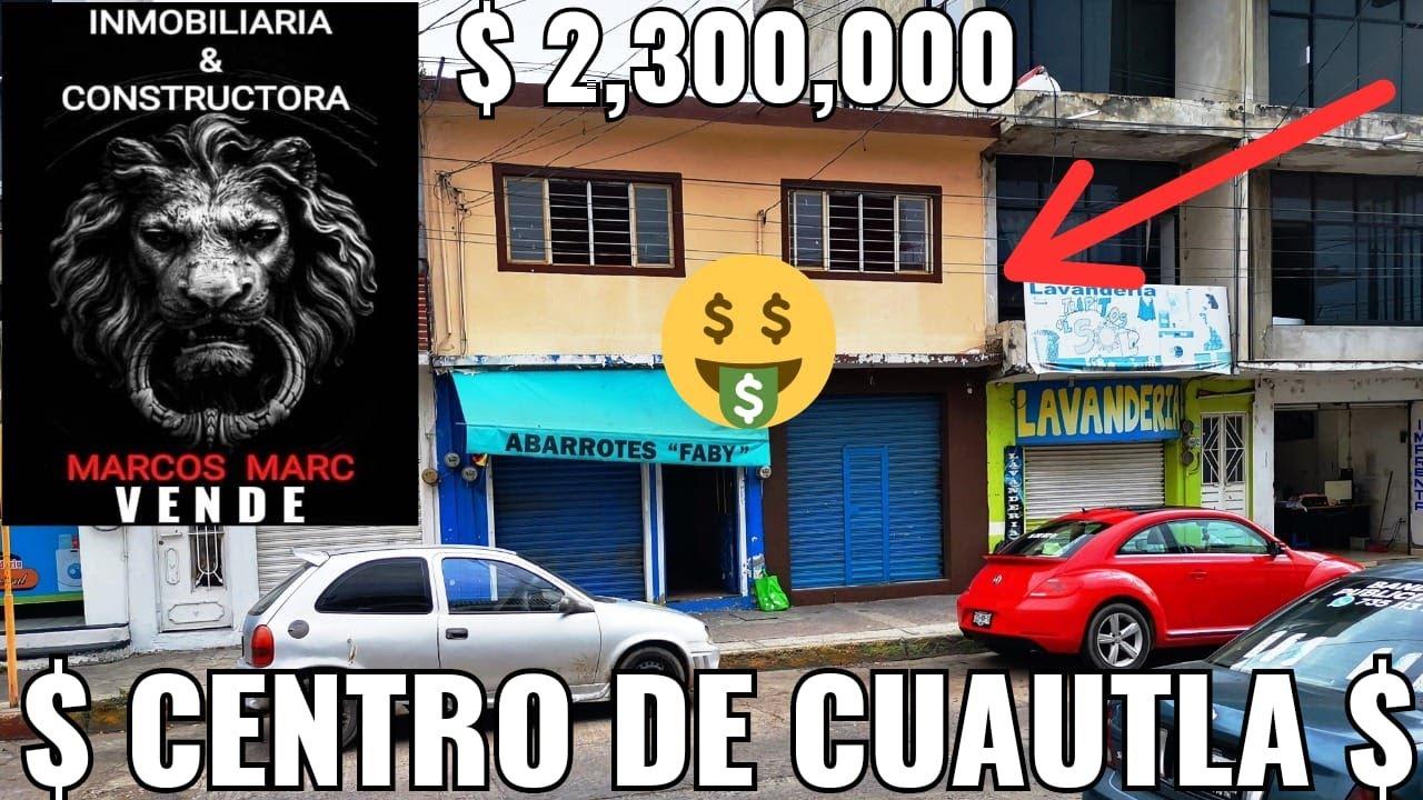 $ 2,300,000 VNDO 2 LOCALES Y UN DEPARTAMENTO CENTRO DE CUAUTLA MORELOS OPORTUNIDAD
