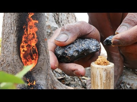 Primitive Evolution: Fire Torch from Tree Resin