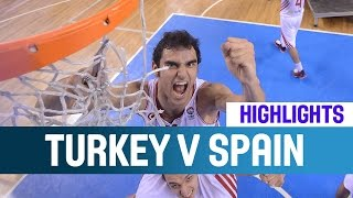 Turkey v Spain- Highlights -- Gold Medal Game -2014 U20 European Championship