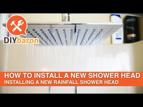 How to install a new shower head - Rainfall Shower Head Installation