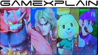 Smash Bros. Ultimate Gameplay - Incineroar, Ken, Isabelle + Luigi's Poltergust Grab on Figure 8
