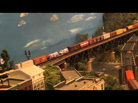 Lehigh Valley & Lehigh & Hudson River at Delaware River (L&KV Model Railroad)