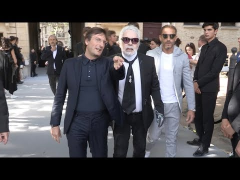 Karl Lagerfeld At The Dior Homme Menswear SS 2019 Fashion Show In Paris