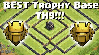 Clash Of Clans - Town Hall 9 (TH9) BEST Trophy Base / Anti 3 Star 2 Air Sweepers/New