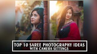 Top 10 Simple Saree Photography Saree Photoshoot Idea Saree Poses For Girls Youtube
