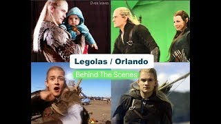 Legolas/Orlando Bloom behind the scenes