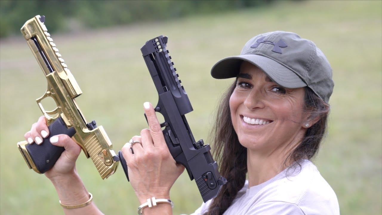My Mom Shoots The Desert Eagle 50 Cal