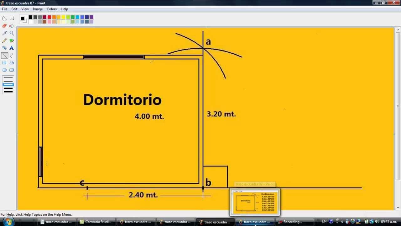 Drywall lima construcci n como hacer un trazo escuadra facilisimo youtube - Como saber si una casa es del banco ...
