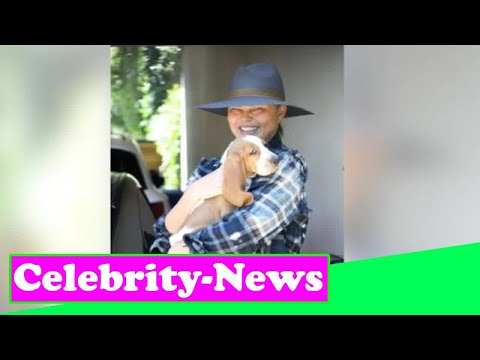 Chrissy Teigen steps out in public with new basset hound puppy after de@th of dog Pippa