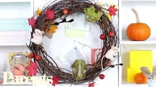 Homemade Halloween Decorations: Wicked Witch's Wreath