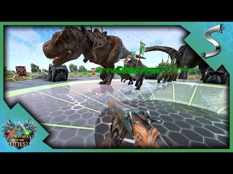 i STOLE EVERYONE'S DINOS! DINO ARMY ON THE PLATFORM! - Ark: Survival of the Fittest [SOTF Gameplay]