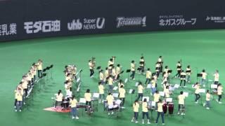 石狩南高校 吹奏楽部の演奏(北海道日本ハムファイターズ)2014/5/24