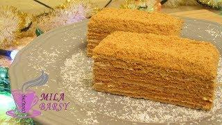 Медовый торт 🎄 Новогодний рецепт 🎄 Honey cake 🎄 Медовик