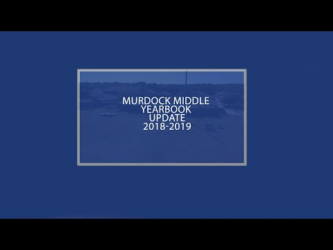 Murdock Middle School- Yearbook Information 2018-2019