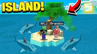 TRAPPED ON AN ISLAND FOR 24 HOURS WITH MY BEST FRIEND IN MINECRAFT POCKET EDITION