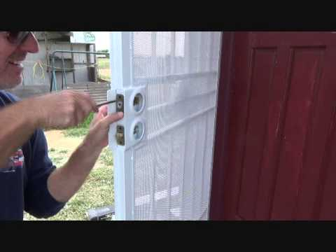 Installing Door Knobs On A Security Screen Door...Part 2