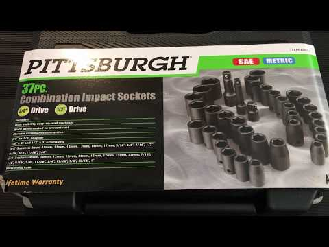 Harbor Freight's Best 37 Piece Impact Socket Set Made In Taiwan