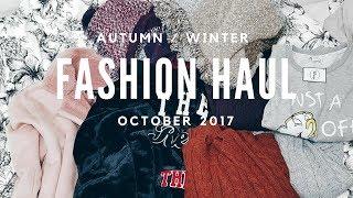 Autumn October 2017 Plus Size Try On Haul - Zara, Forever 21, Primark & Ebay
