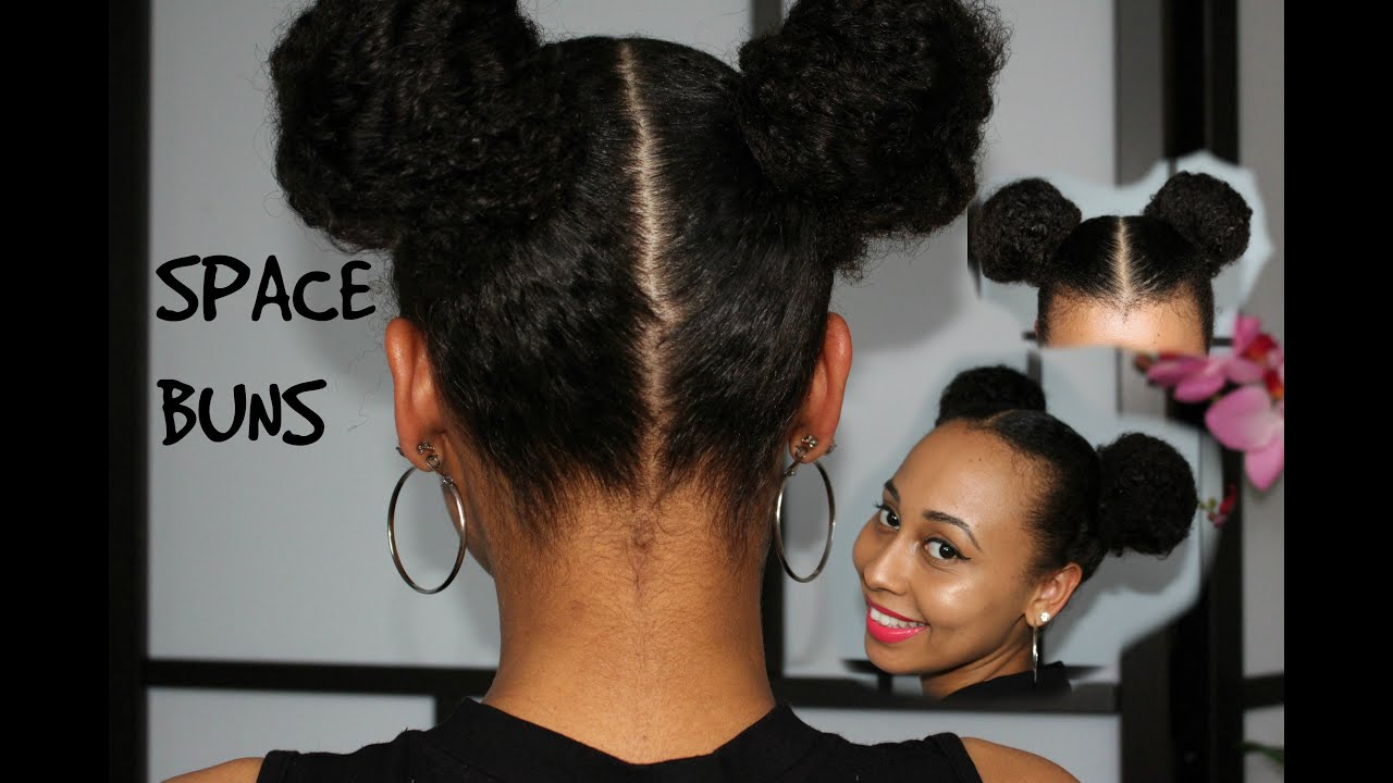 Summer Protective Style Space Buns Double Puff Balls