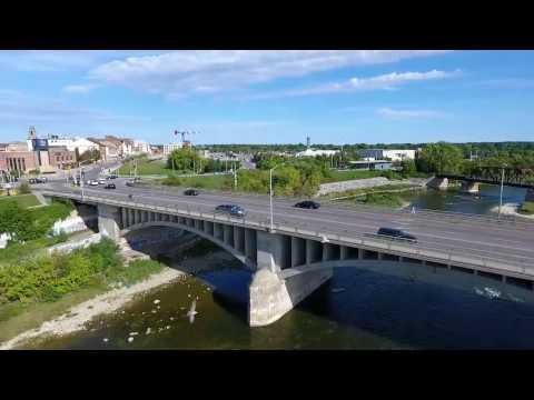 Drone Footage - Downtown Brantford, Ontario - Sept 26 2016