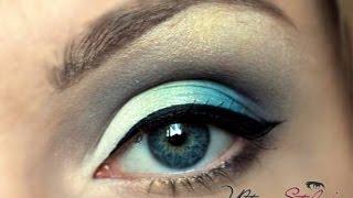Свадебный макияж для зелено голубых глаз