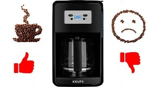 KRUPS 12-Cup Programmable Digital Coffee Maker, Black, Savoy Review/Overview EC311050