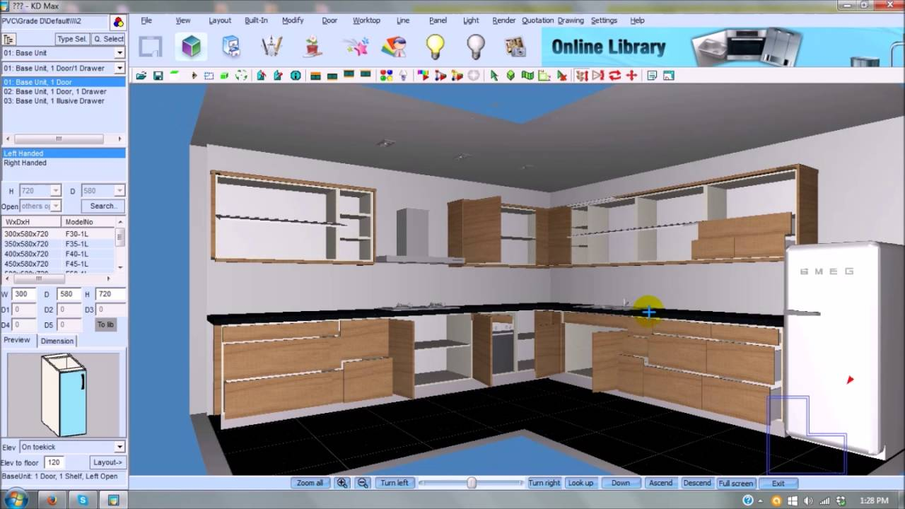 kd max 3d kitchen design software free download