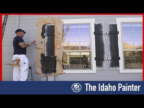 House Painting Strategies.  Painting shutters.