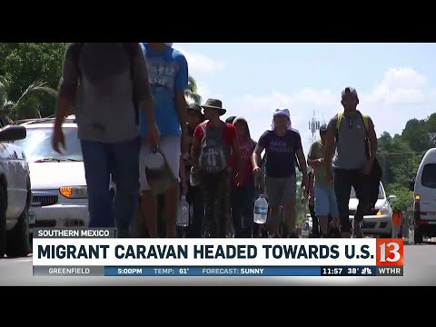 Migrant caravan headed toward U.S.