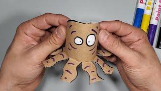 איך מכינים תמנון מגניב מגליל נייר טואלט - סדנת יצירה לילדים