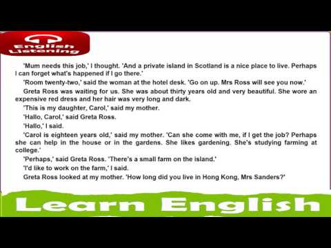 learn english hearing   DEAD MANS ISLAND    John Escott