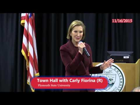 Town Hall with Carly Fiorina at PSU 11/16/15