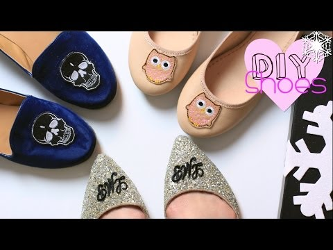 Last Minute Gift DIY Shoes| Monogram/Skull/Owl