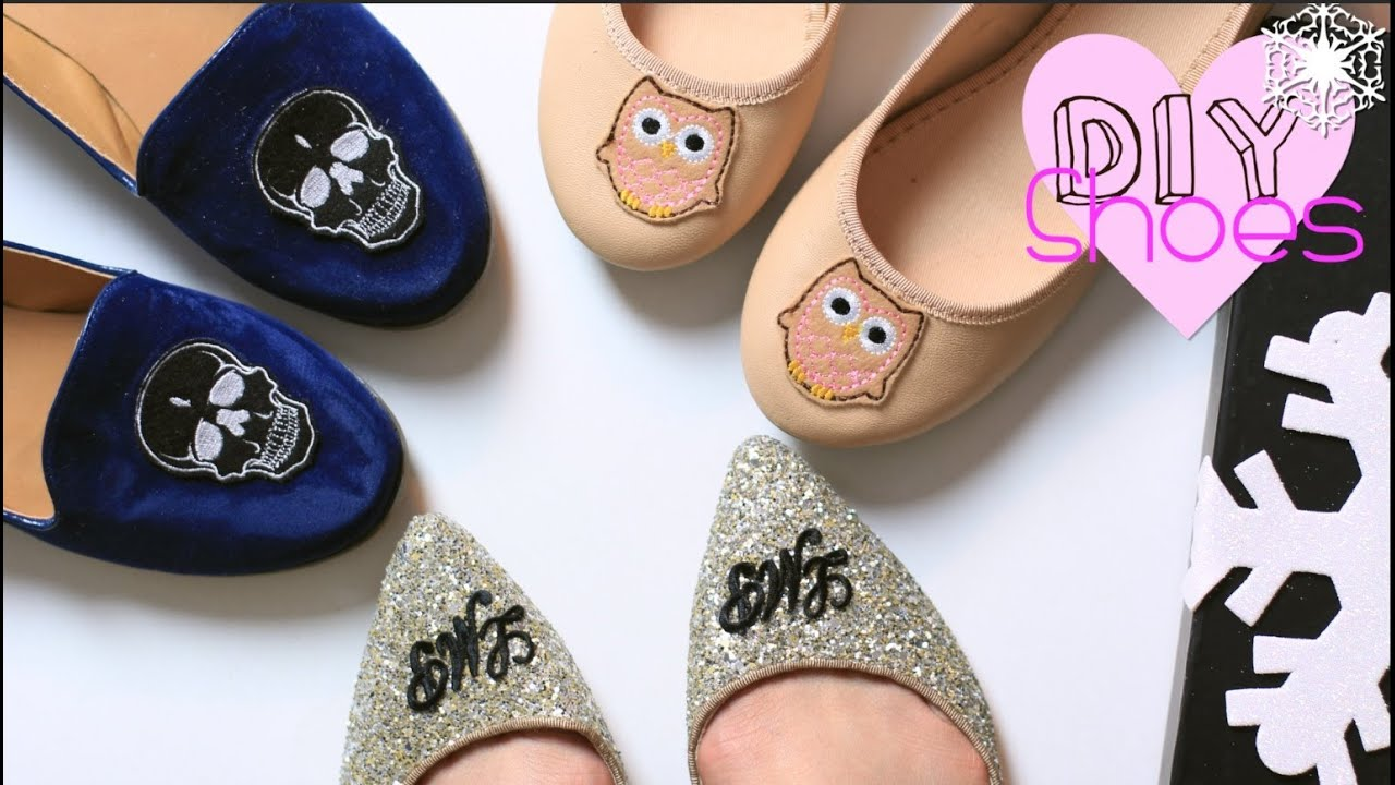 Last minute gift diy shoes monogram skull owl youtube for Diy monogram gifts