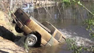 Houston police unearth submerged vehicles