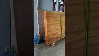 Bàn dài miên man gỗ gõ đỏ Nam Phi Pachylopa Kính 1,5 mét x dài 7,5 mét x dày 20cm #ManhBaTuoi