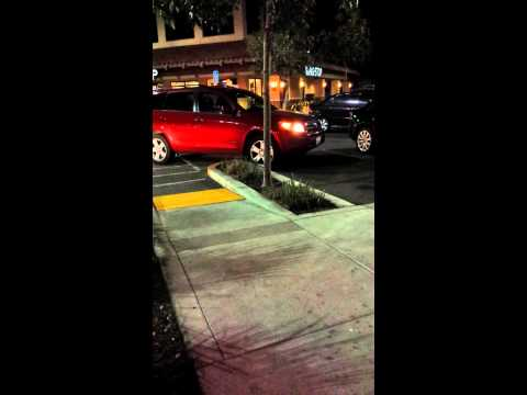 car hit's another park car in cupertino, ca inside asian business plaza.