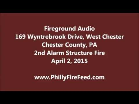 4-2-15, 169 Wyntrebrook Dr, West Chester, Chester County, PA, 2nd Alarm Structure Fire