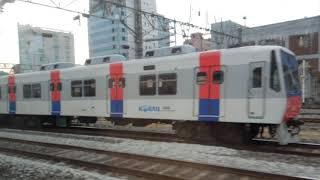 한국철도공사 익산행 무궁화호 열차 노량진역 통과(차내풍…