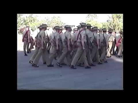 The 5/7th Battalion, The Royal Australian Regiment (Mechanised) Last Parade at Holsworthy